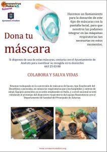 Coronavirus Makers Baleares asks for Easybreath masks
