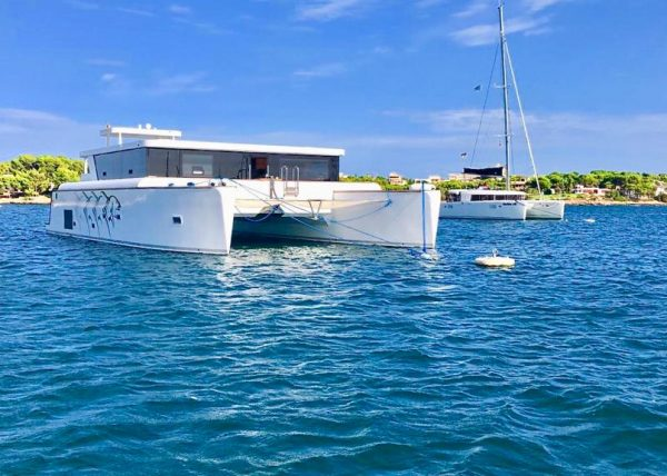The OCEAN-BEAST 65 on tour at the east coast of Majorca
